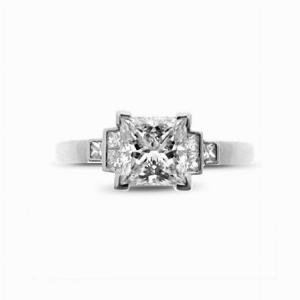 Princess Cut With Princess Cut Shoulders Engagement Ring 1.09  I VVS1 GIA